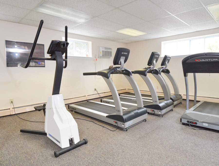 Fitness Center cardio equipment for Bishop Hill Apartment residents in Delaware County, PA