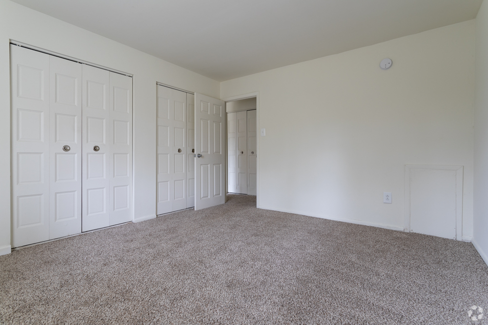 2 large closets in a bedroom at Bishop Hill apartments in Secane, PA