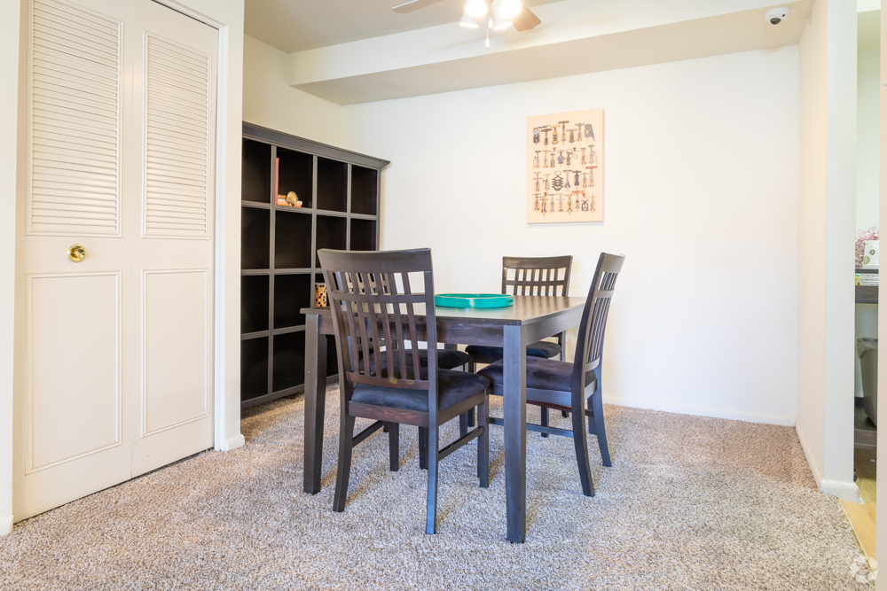 Dining area with closet in a Secane, PA apartment